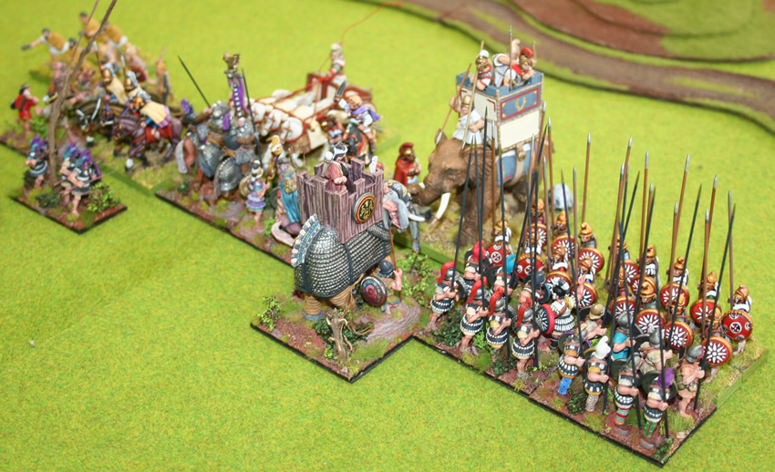 Successor armies clash